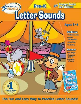 Hooked on Phonics Pre-K Letter Sounds Workbook by Hooked On Phonics.