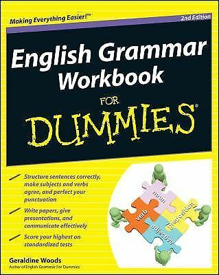 English Grammar Workbook For Dummies, Woods, Geraldine, Good Book