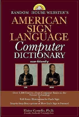 Random House Webster's American Sign Language Computer Dictionary, Elaine Costel