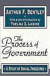 The Process of Government: A Study of Social Pressures,Bentley, Arthur F.,  Good