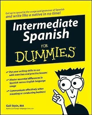 Intermediate Spanish For Dummies, Stein, Gail, Acceptable Book