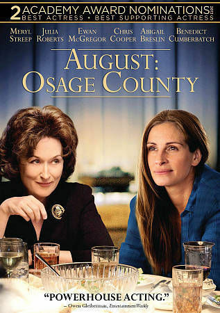 August: Osage County, Good DVD, Benedict Cumberbatch, Ewan McGregor, Julia Rober