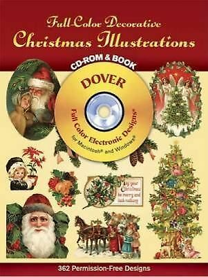 Full-Color Decorative Christmas Illustrations CD-ROM and Book (Dover Electronic