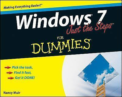 Windows 7 Just the Steps For Dummies, Muir, Nancy C., Good Book
