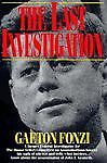 The Last Investigation, Fonzi, Gaeton, Acceptable Book