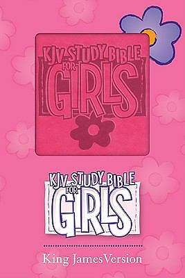 KJV Study Bible for Girls Pink Duravella by