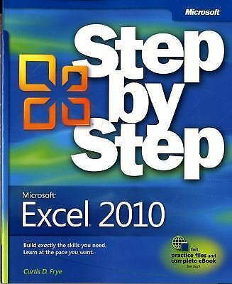 Microsoft Excel 2010 (Step By Step), Frye, Curtis, Acceptable Book