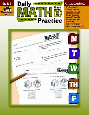 Daily Math Practice, Grade 5 by Evan-Moor Educational Publishers