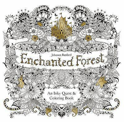 Enchanted Forest: An Inky Quest & Coloring Book, , Good Book