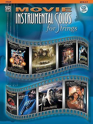 Movie Instrumental Solos for Strings: Violin, Book & CD by Alfred Music