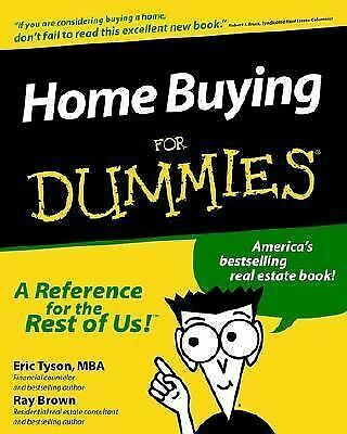 Home Buying for Dummies, Tyson, Eric, Good Book