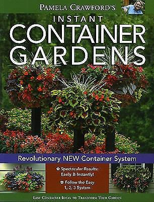 Instant Container Gardens, Pamela Crawford, Acceptable Book