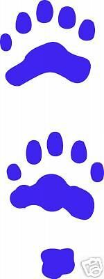 polar  bear track / vinyl sticker / paw  print decal ALL 4