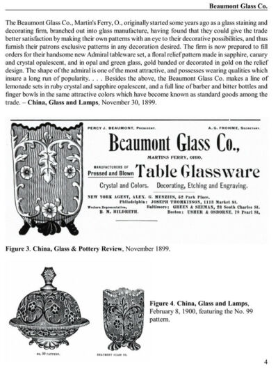 Opalescent Glass 1883-1934: ads & trade journal reports
