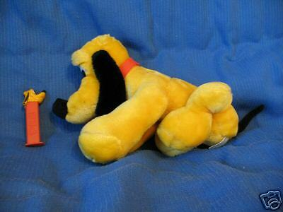 "WALT DISNEY ""Pluto Plush Toy & Pez Dispenser""_ VINTAGE"