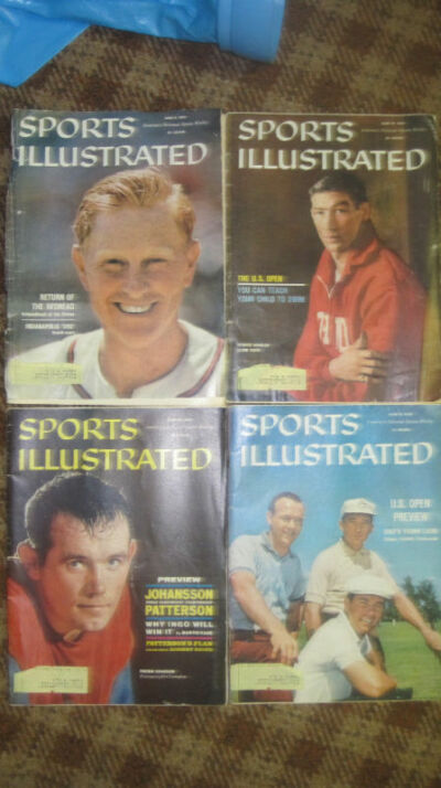 June 1960 Sports Illustrated set - 4 issues