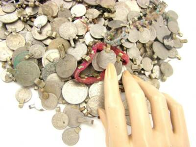 1000 real COINS Belly Dance Bellydance Tribal Kuchi MIXED
