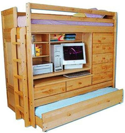 BUNK BED Paper Patterns LOFT ALL IN1 W/ TRUNDLE DESK CHEST CLOSET Easy DIY Plans