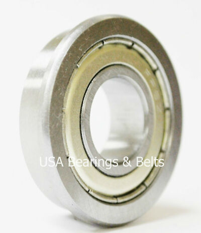 "(10)FR8-ZZ Premium ABEC 3 Flanged Bearings,1/2"" X 1-1/8"",FR8 ZZ Synthetic Grease"