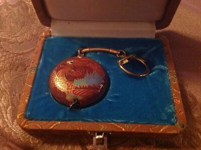 Rare antique Oriental tape measure and key chain