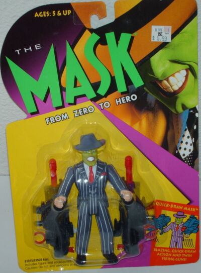 Quick-Draw Mask The Mask From Zero To Hero Jim Carrey Figure Toy Island 1997