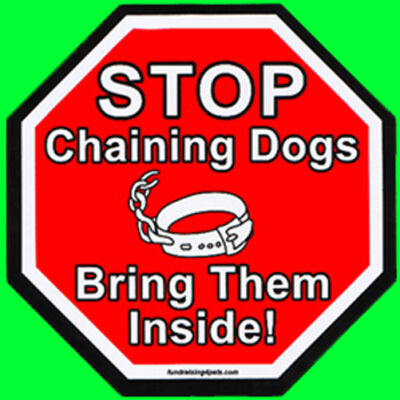 STOP CHAINING DOGS, BRING THEM INSIDE Magnet,Dog Cat Charity Rescue