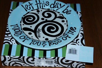 Christian Bible Verse PLATE Let This Day Be More of You and Less of Me Boxed NEW