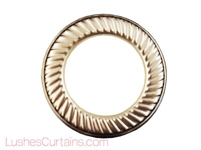 "Curtain Drapery Nickel Metal Grommets Eyelets #12 Inner Diameter 1-9/16"" Pack of"