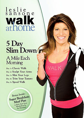 Leslie Sansone: Walk at Home - 5 Day Slim Down - A Mile Each Morning, Good DVD,