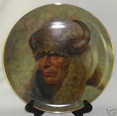 Perillo CHIEF RED CLOUD Gregory Perillo AUTOGRAPHed Collector Plate NIB
