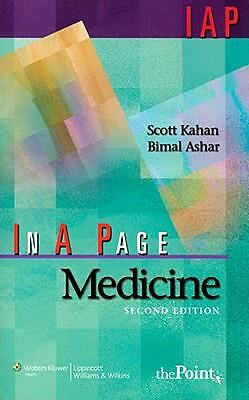 In A Page Medicine (In a Page Series), Ashar MD  MBA, Bimal H., Kahan, Scott, Go