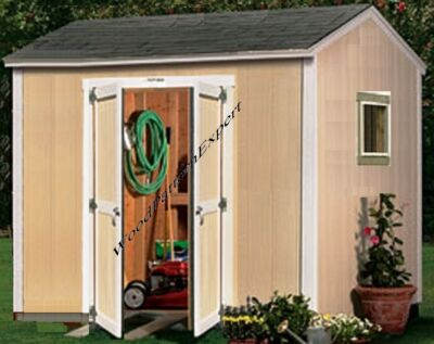 SHED 10 X 8 Paper Plans EASY DIY PATTERNS Build A Utility Storage Gable Building