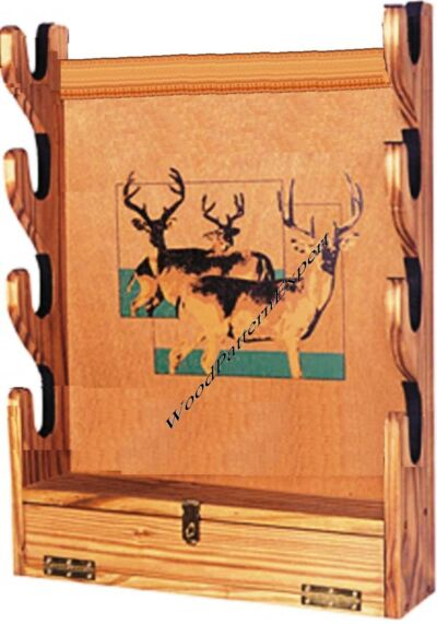 GUN RACK Paper Plans EASY DIY PATTERNS Build San Angeo Wall Style To Hold Rifles