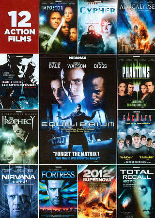 12-Film Action Pack, Good DVD, ,