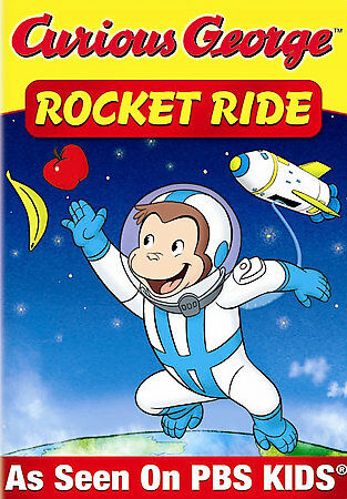 Curious George - Rocket Ride and Other Adventures, Good DVD, Rob Paulsen, Elizab