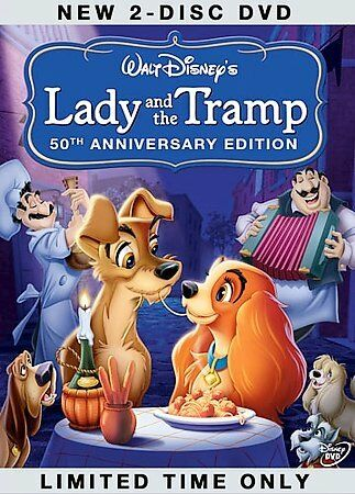 Lady and the Tramp (50th Anniversary Edition), Good DVD, Peggy Lee, Barbara Ludd