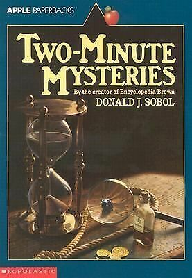 Two-Minute Mysteries (Apple Paperbacks), Sobol, Donald J., Acceptable Book