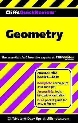 CliffsQuickReview Geometry, Kohn, Edward, Good Book