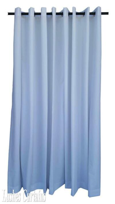 "White 108"" H Velvet Curtain Panel w/Grommet Top Eyelets Window Treatment Drapes"