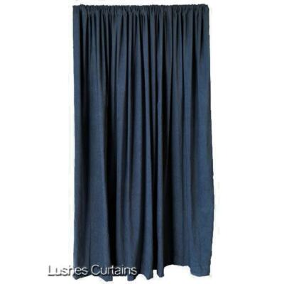 Blue 12'H Velvet Curtain Long Panel Acoustical Nightclub Noise Reducing Drapery