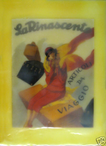 painting woman beeswax encaustic collage art deco 20's