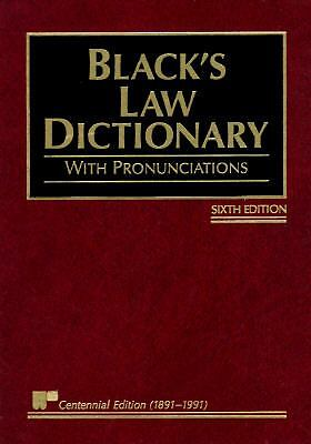 Black's Law Dictionary with Pronunciations, 6th Edition (Centennial Edition 189
