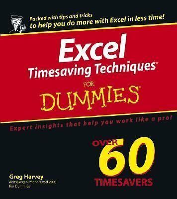 Excel Timesaving Techniques For Dummies