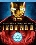 Iron Man (Blu-ray Disc, 2008, 2-Disc Set, Ultimate Edition) w/slipcover, NEW!