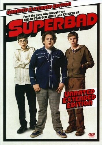 Superbad (Unrated Widescreen Edition), New DVD, Jonah Hill, Michael Cera, Christ