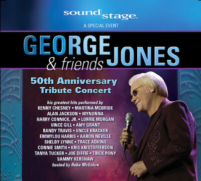 George Jones & Friends: 50th Anniversary Tribute Concert, Good DVD, ,