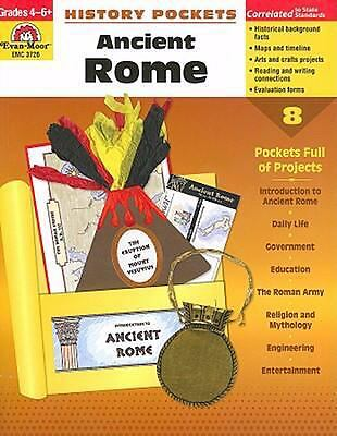 History Pockets: Ancient Rome, Grades 4-6+ by Evan-Moor Educational Publishers