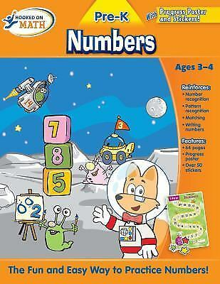 Hooked on Math Pre-K Numbers Workbook by Hooked On Phonics.