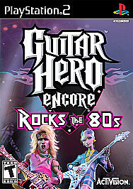 Guitar Hero Encore: Rocks the 80's, Good PlayStation2, Playstation 2 Video Games