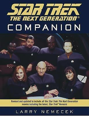 The Star Trek The Next Generation Companion, Nemecek, Larry, Good Book